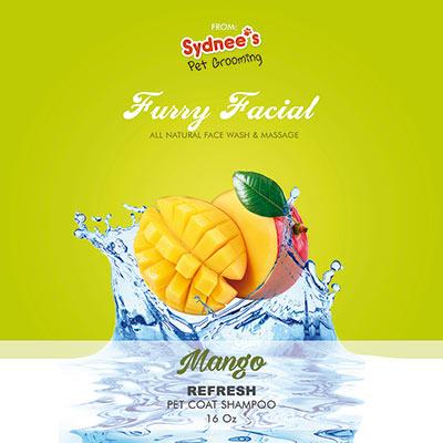 mango pet shampoo face wash and massage